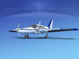 propeller pa-34 seneca 3d model