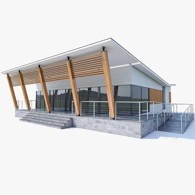 3d model small office buildings