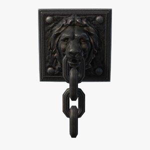 3d model chain lion
