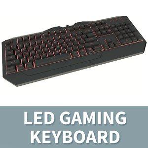 c4d qwerty led keyboard -