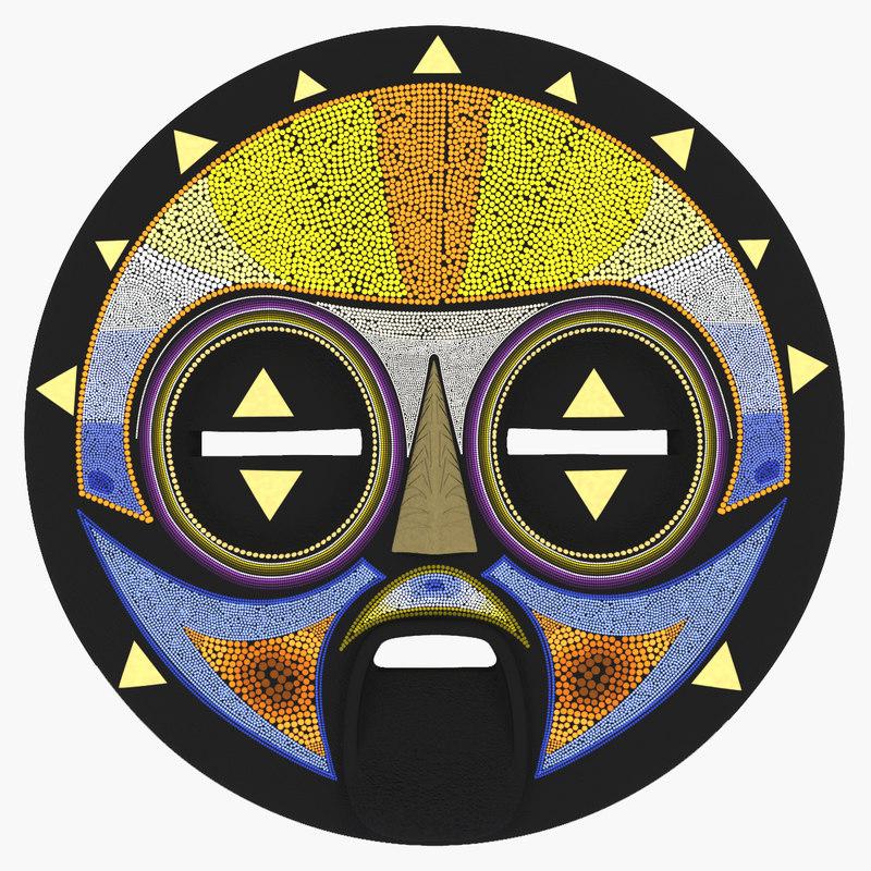 african mask v2 3d max