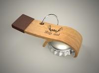3d model bottle opener