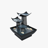 3d model fountain interior modelled