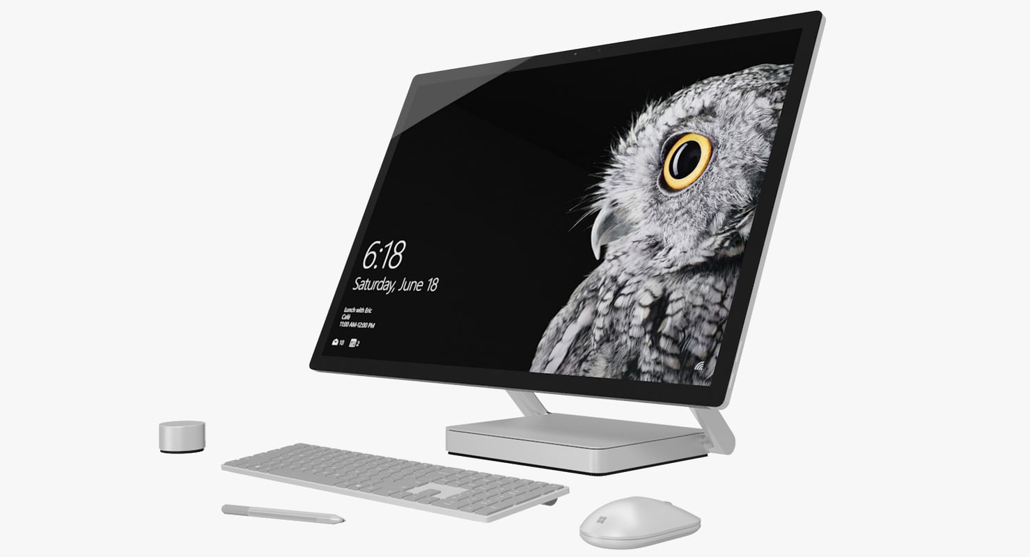 3d realistic microsoft surface studio model
