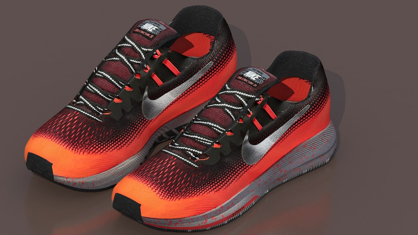 3d running nike air zoom