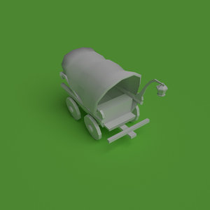 pioneer carriage 3d model