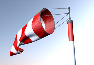 wind sock animates c4d