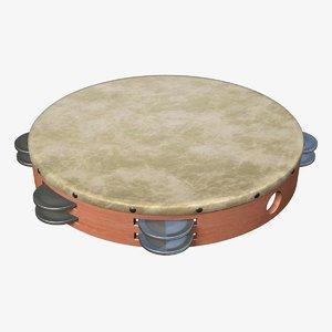 tambourine 3d model