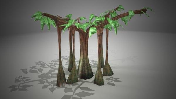 3d ready banyan tree