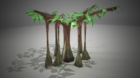 3d ready banyan tree