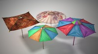 Umbrella 4 Pack Low Polygon