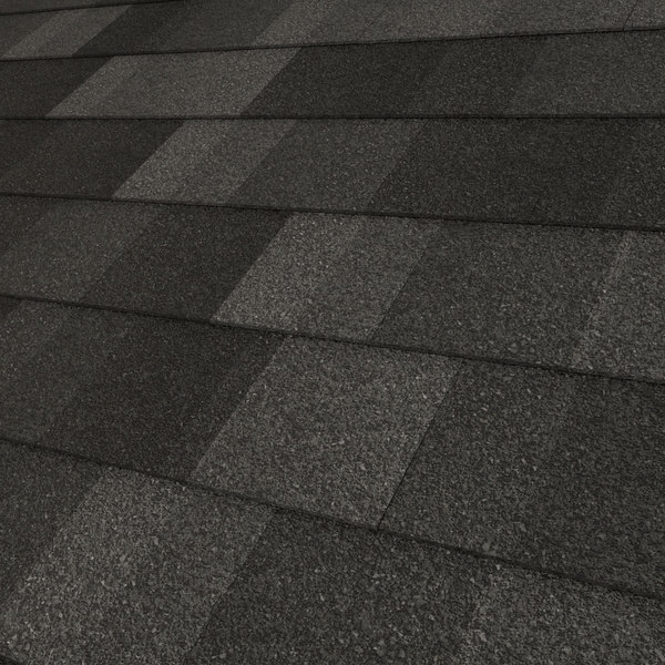 3d composition roof shingles model