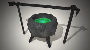 free obj model witch cauldron