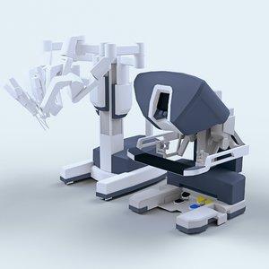 da vinci surgical robot 3d obj