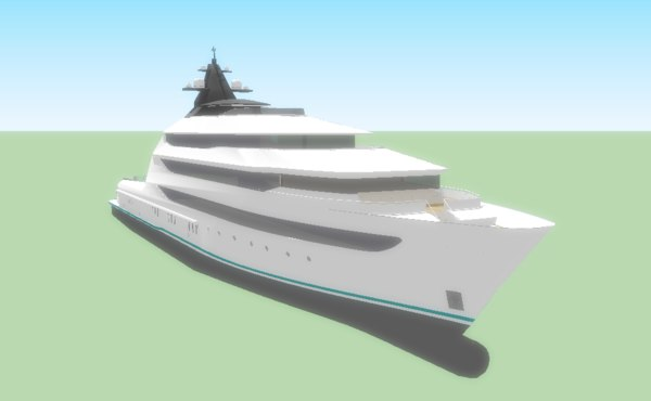 yacht sketchup8 3ds
