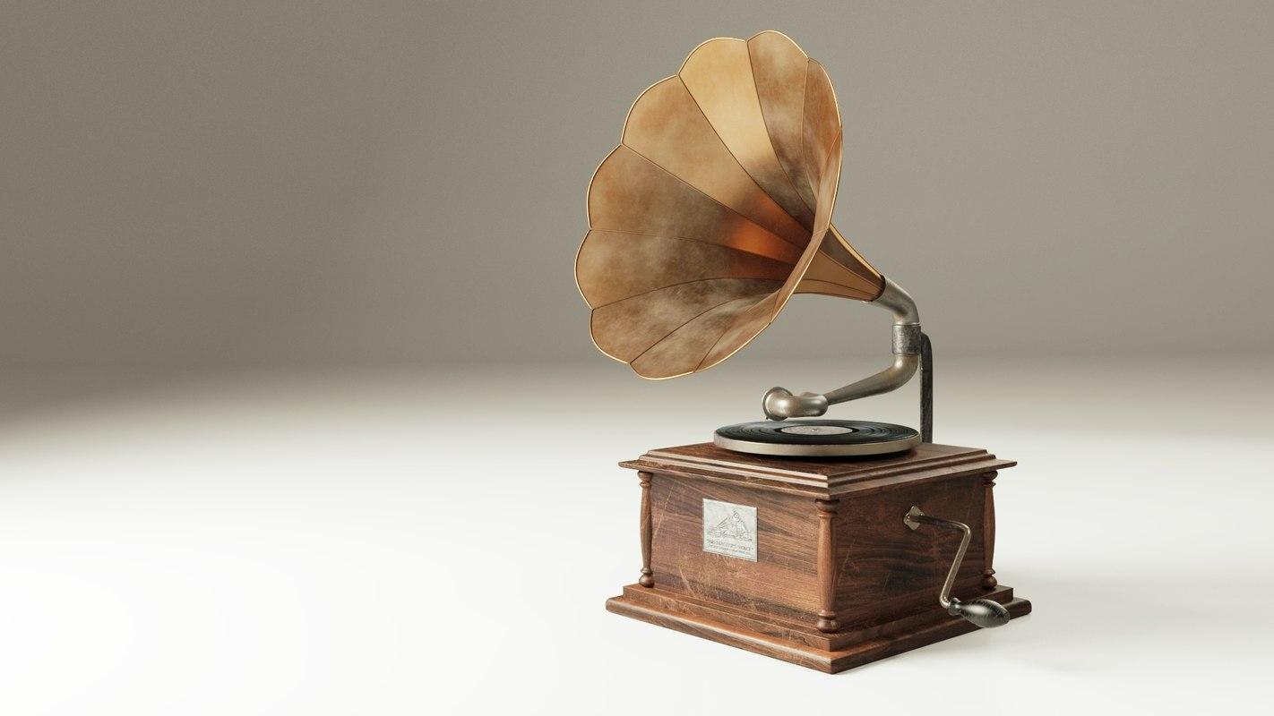 blend antique gramophone
