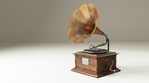 blend antique gramophone