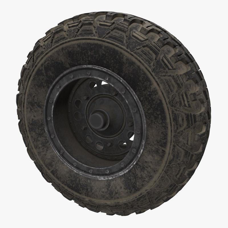 3d buggy wheel
