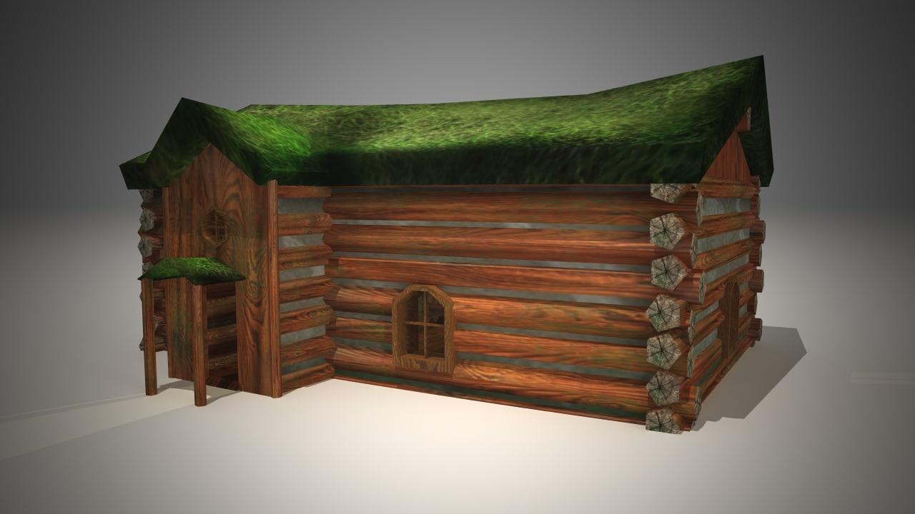 cottage grass 3d model