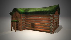 cottage grass 3d model