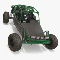 dune buggy rigged 3d max