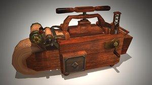 3d paper press model