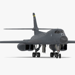 strategic bomber rockwell b-1 3d 3ds