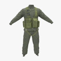 3d obj helicopter pilot uniform 3