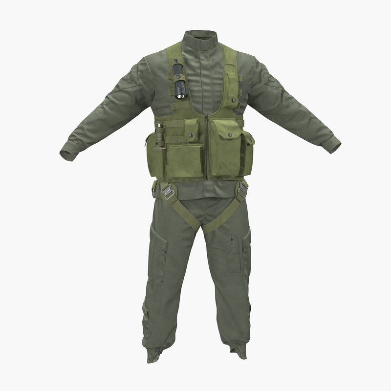 3d obj helicopter pilot uniform 3