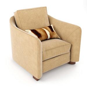 3d armchair ulivi julie