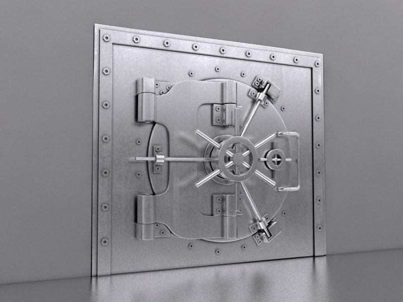 3d bank vault model
