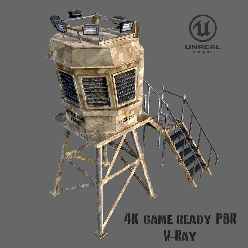 ready guard tower 3d model