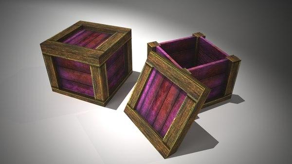 wooden crates obj