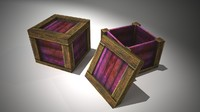 wooden crates obj