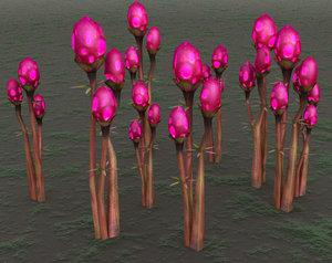 3d alien egg plant