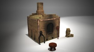 kiln pizza oven 3d lwo