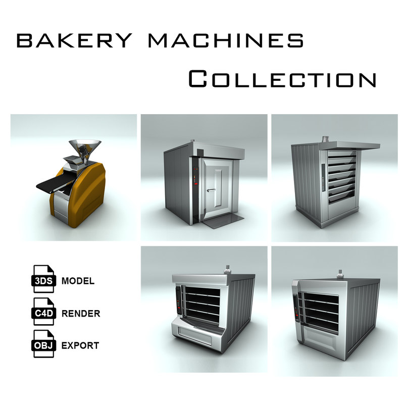3d bakery machine bake model