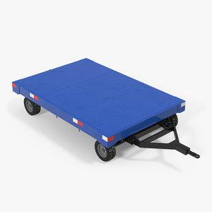 3d model airport baggage trailer