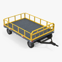 airport luggage trolley baggage 3d c4d