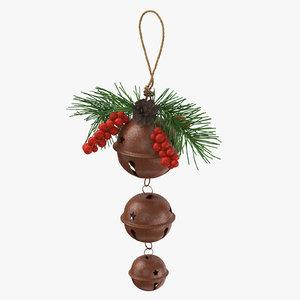 3d max christmas bells 01 hanged