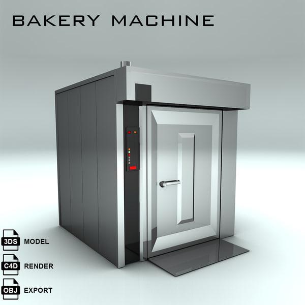 bakery machine bake 3d max