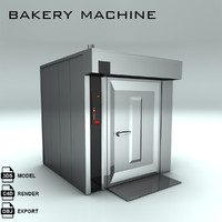 bakery machine bake 3d max
