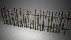 obj wooden fence