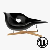 unreal charles e la chaise 3d model