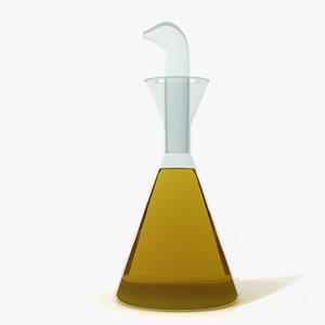 cruet olive oil 3d model