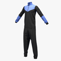 male sport suit 3d obj
