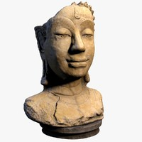 3d buddha sculpture model