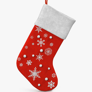 christmas sock 2 3d model