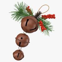christmas bells 01 laid 3d model