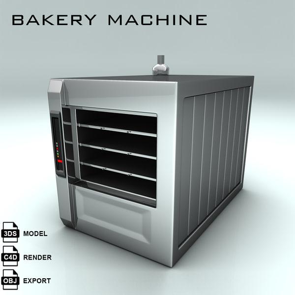 bakery machine bake 3d model